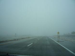 Yep.  It got even colder, then it snowed.  Thanks, Kansas.